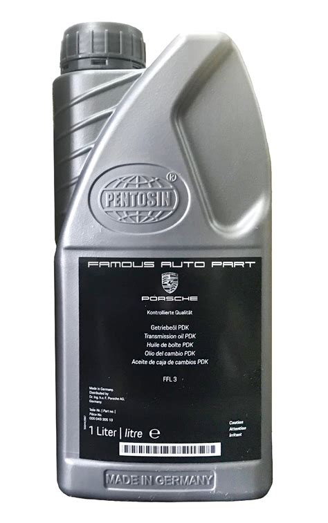 pdk transmission fluid ffl  porsche carrera cayman panamera