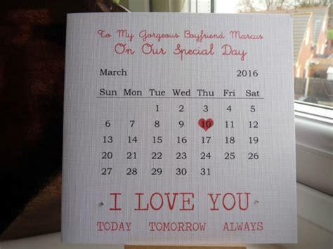 Handmadealised  Ee  Anniversary Ee   Calendar Card Boyfriend