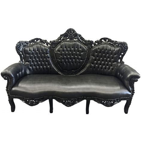 canapé baroque occasion canapé baroque tissu simili cuir noir et bois laqué noir
