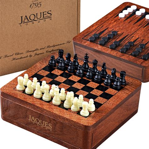 travel chess backgammon  draughts set cm jaques