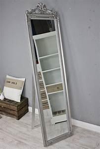 Barock Spiegel Silber Groß : standspiegel gro 180 x 45 cm silber barock spiegel antik landhaus holz patina ebay ~ Markanthonyermac.com Haus und Dekorationen