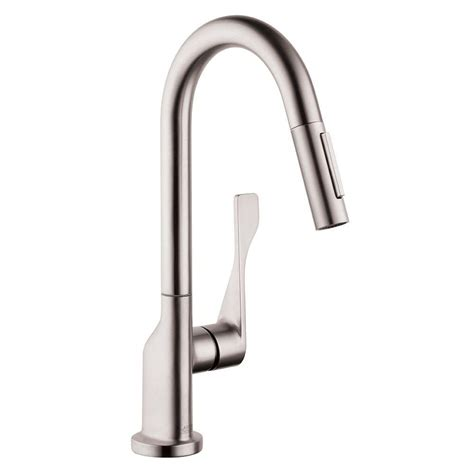 hansgrohe kitchen faucet hansgrohe axor citterio prep single handle pull