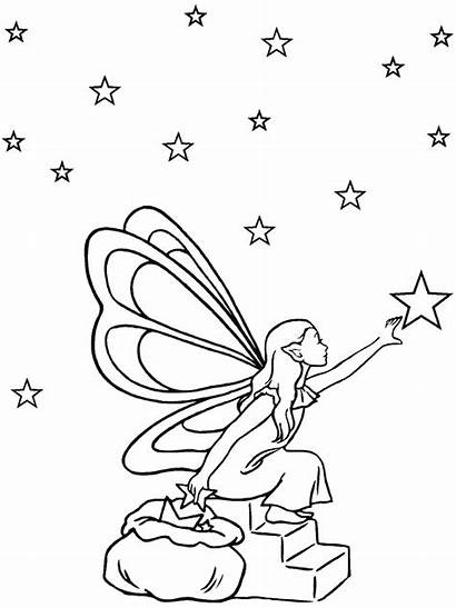 Coloring Fantasy Pages Fairy Printable