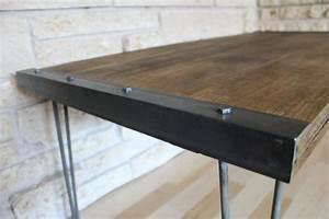 Simple Rustic Industrial DIY Coffee Table Handmadeology