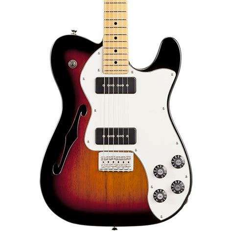 fender modern player telecaster thinline deluxe electric guitar fender modern player telecaster thinline deluxe electric guitar music123