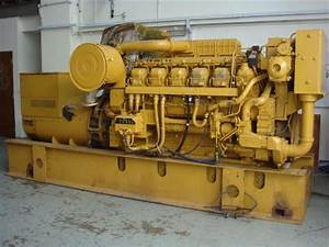 2008 Containerised Caterpillar Engine Type  3512 With Diesel Oil Day Tank And Cables For Sale By