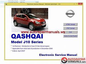 Nissan Qashqai 2007 Guidelines For Repair And Maintenance