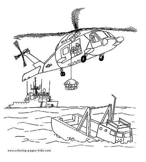 rescue helicopter color page coloring pages  kids