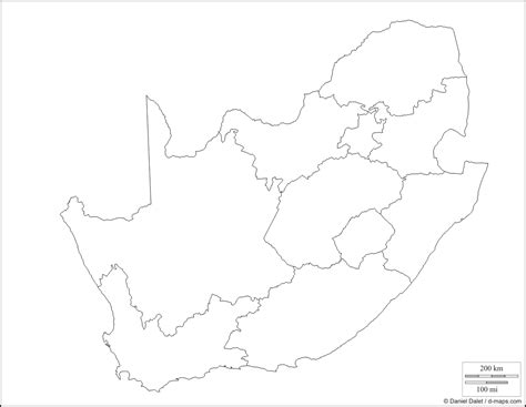 blank map  south africa  provinces