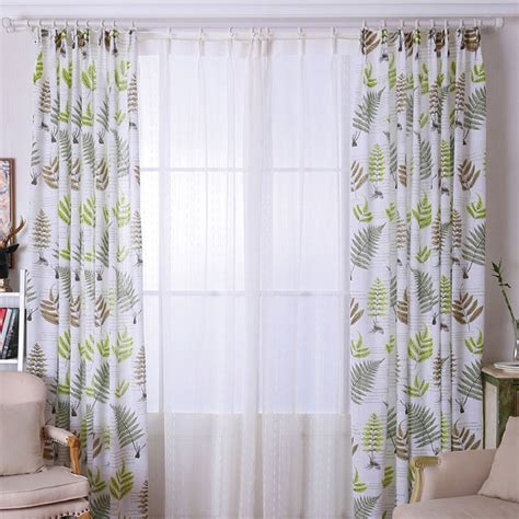 Country Style Curtains And Drapes - country style curtains thick drapes green blue patterned