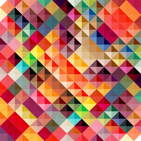 colorful geometric triangles abstract background vector