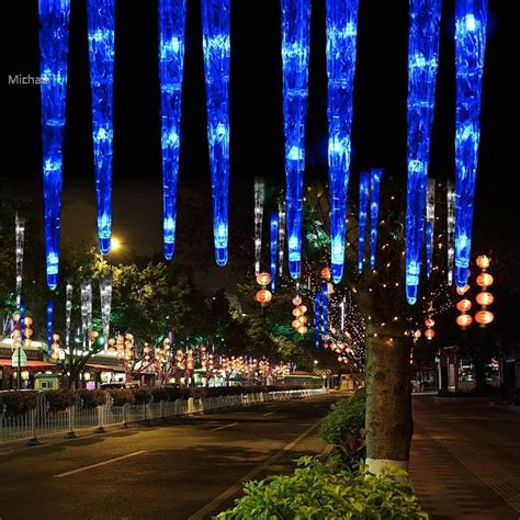 dripping icicle outdoor christmas lights christmas 30cm 32led 8tubes blue led icicle light tube