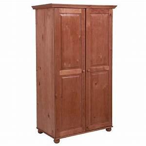 Armoire Hauteur 180 : armoire 2 portes hauteur 180 cm annecy rustique ~ Edinachiropracticcenter.com Idées de Décoration