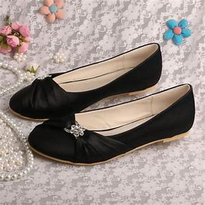 aliexpresscom buy wedopus hot selling women shoes black With wedding dress flats