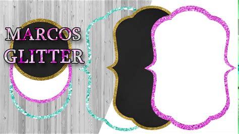 marcos glitter invitaciones photoshop youtube