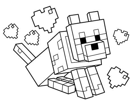 disegni da colorare minecraft scp disegno di lupo di minecraft da colorare