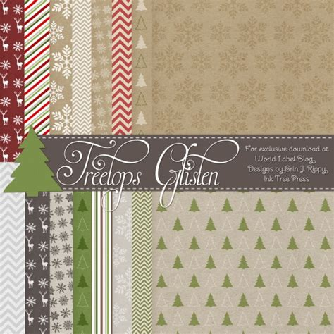 Tree Tops Template by Treetop Glisten Free Christmas Labels Digital
