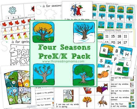 the four seasons pre k k pack free beginning reading