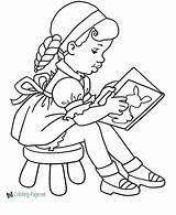 Coloring Pages Read sketch template