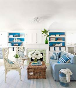 14 great beach themed living room ideas decoholic for Beach house living room ideas