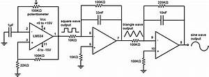 how to build a simple function generator circuit with an With sinusoidal signal generator circuit diagram