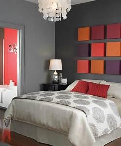 Deco Chambre A Coucher : idees deco murale amenagement chambre coucher accueil design et mobilier ~ Teatrodelosmanantiales.com Idées de Décoration