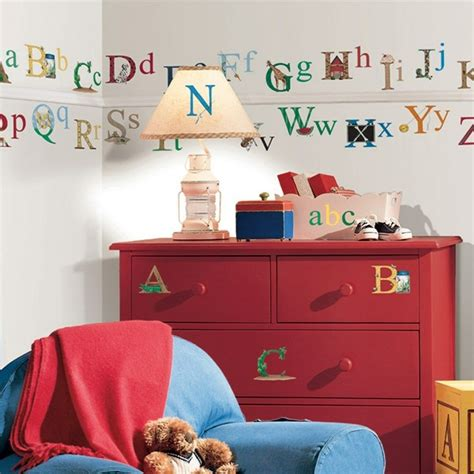 set   alphabet wall stickers kids bedroom toy room classroom letters decals ebay