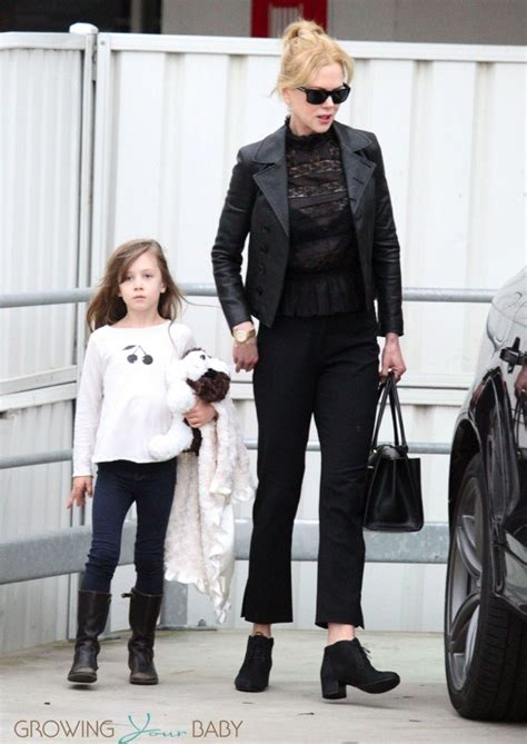 nicole kidman touches   sydney  daughter sunday