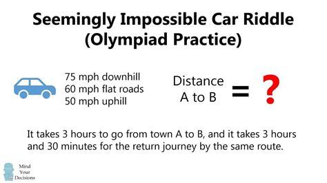 Seemingly Impossible Car Riddle Math Genius Mental Math