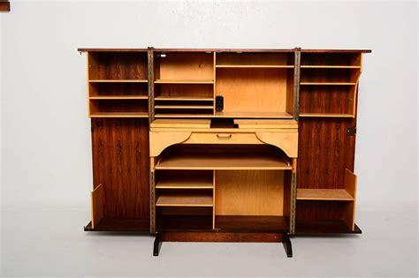 desk in a cabinet rosewood hideaway desk cabinet at 1stdibs