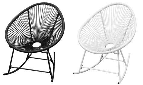 schommelstoel tuin rotan synthetische rotan schommelstoel groupon