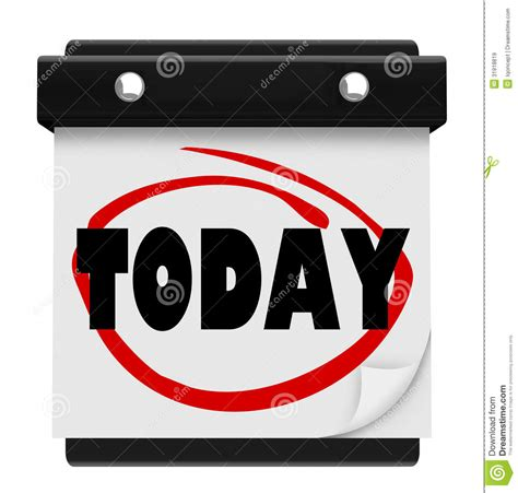 today word wall calendar reminder schedule royalty stock