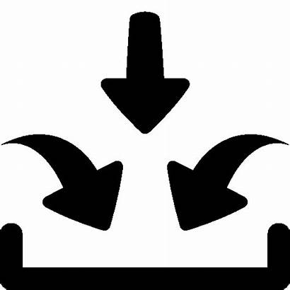 Input Icon Multiple Business Inputs Icons Output