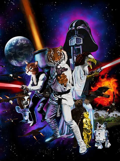 star wars inspired animal wars illustration bit rebels