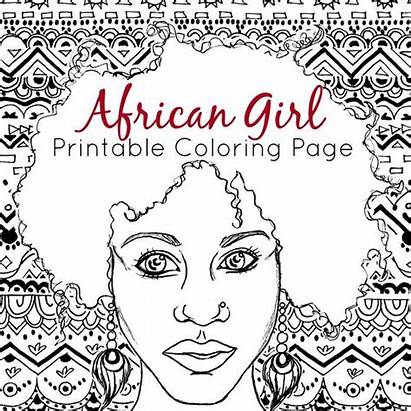 Coloring African Adult Printable Pages American Ethnic
