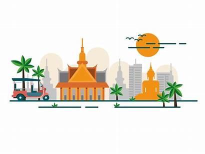Thailand Monocle Thai Border Travel Temple Dribbble