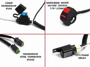 Universal Motorcycle Spot Fog Light Wiring Kit