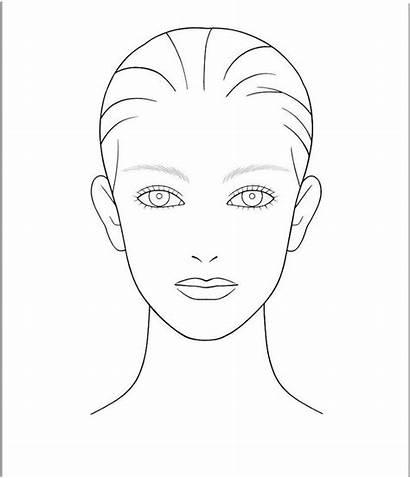 Blank Face Template Makeup Templates Foundation Hair