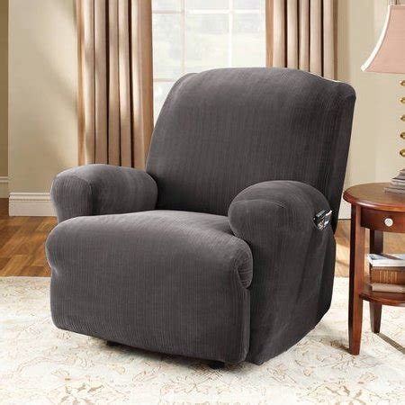 covers at walmart sure fit stretch pinstripe recliner slipcover walmart