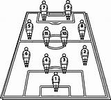 Football Coloring Soccer Field Players Board Pages Tactics Cleats Playing Printable Wecoloringpage Getcolorings sketch template