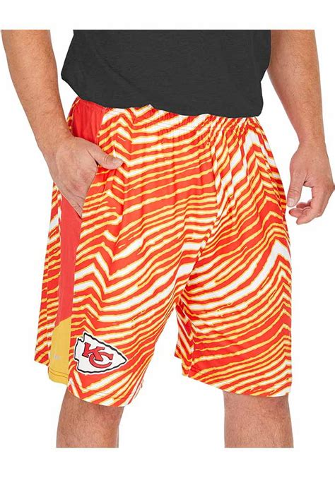 Zubaz pants were popular among 80s bodybuilders the designers formed their company with the slogan dare to be different, and in that spirit they made their pants with crazy designs. Zubaz Kansas City Chiefs Mens Red Space Dye Shorts - 15230280