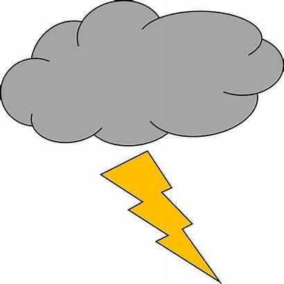 Lightning Thunder Clipart Thunderstorm Awan Thundercloud Petir