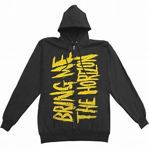 Rockabilia Size Chart Bring Me The Horizon Bmth Logo Zippered Hooded Sweatshirt