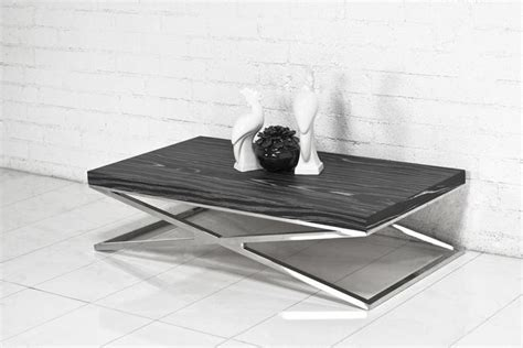 chrome coffee table legs www roomservicestore com black macassar chrome x leg