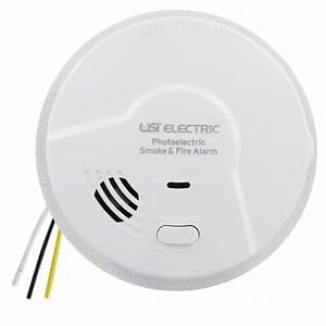 Bundle Of 6 Usi Electric Hardwired Photoelectric Smoke