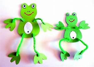 Basteln Mit Bechern : frosch mit pfeiffenputzer tiere basteln meine enkel und ich ~ Frokenaadalensverden.com Haus und Dekorationen