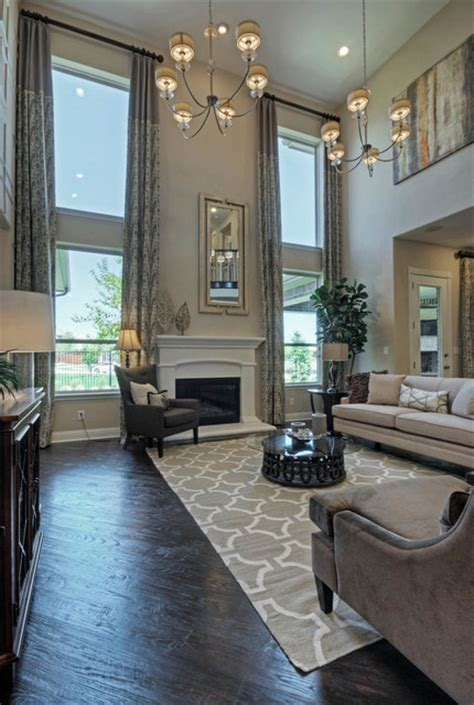 toll brothers plano tx model transitional family room