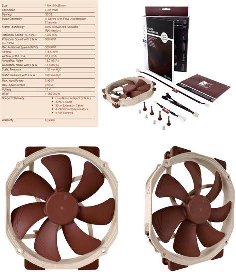 noctua rubber fan mounts new model noctua nf a15 pwm 140mm fan with 120mm mounts ebay