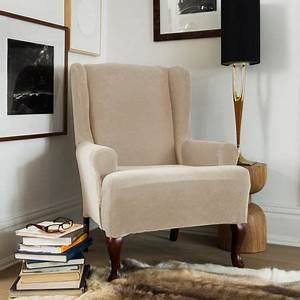 Sure Fit Stretch Velvet Wing Chair Slipcover Walmart Canada