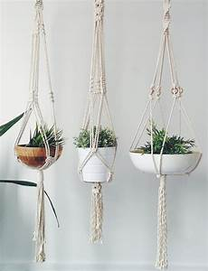 macrame plant hanger design decoration With best brand of paint for kitchen cabinets with macrame wall art diy